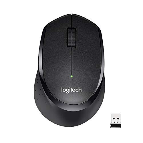 Souris sans fil Logitech M330 Silent Plus, 2,4 GHz avec nano-récepteur USB, suivi de 1000 DPI, 3 boutons, batterie 24 mois, compatible PC / Mac / ordinateur portable, noir
