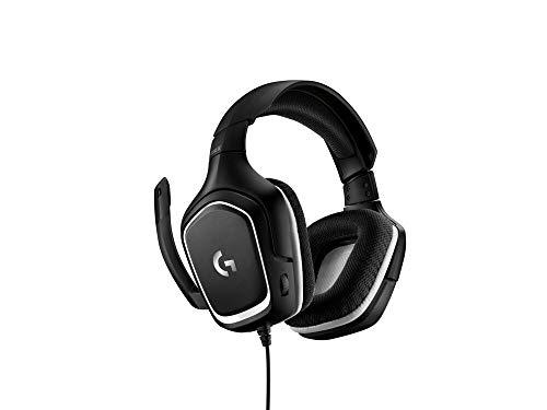 Casque de jeu filaire Logitech G332, audio stéréo, pilotes 50 mm, jack 3,5 mm, microphone rabattable pour couper le son, léger, PC / Mac / Xbox One / PS4 / Nintendo Switch, noir / blanc